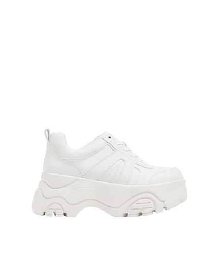 Platform fashion trainers