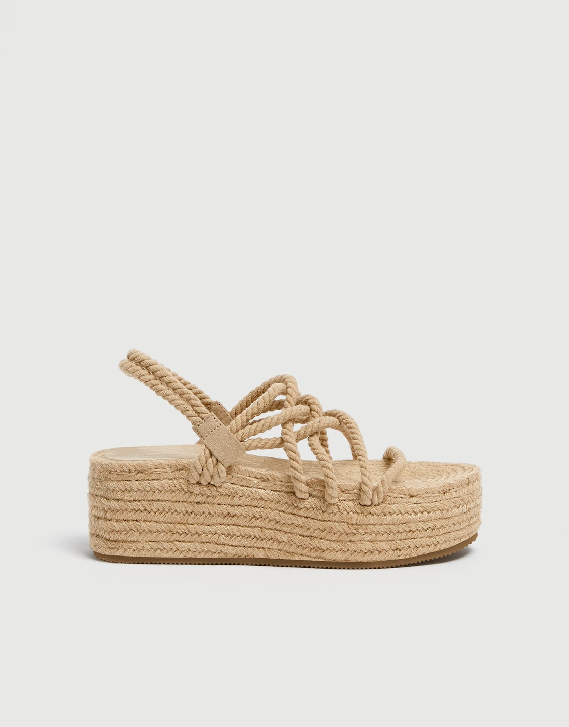 ba861eb7eb8 Jute wedges with rope straps - pull bear