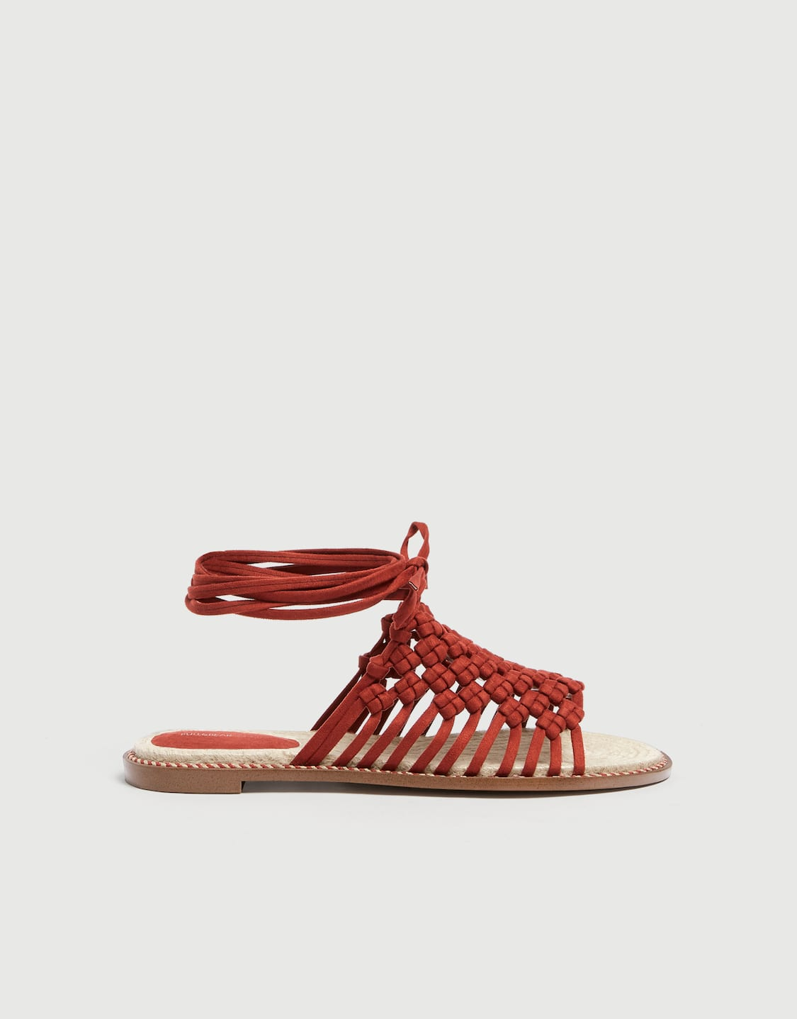321e4b8e5fb3 Braided coral sandals - PULL BEAR