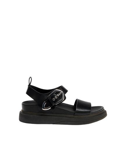 Sandale negre stil urban