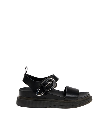 Black urban fashion sandals