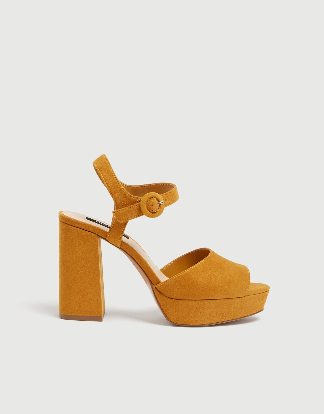 176191f66a0 Mustard yellow high-heel sandals