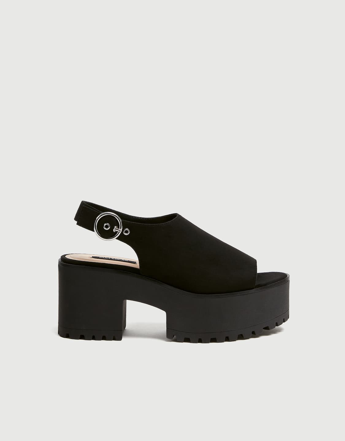 49a524f6e45b High-heel platform sandals - pull bear