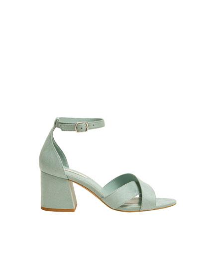 Basic-Sandale in Mint