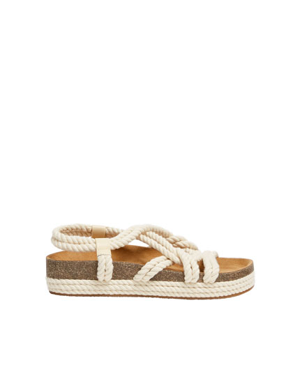 5e366e937a9 Sadie Sink by Pull Bear natural sandals