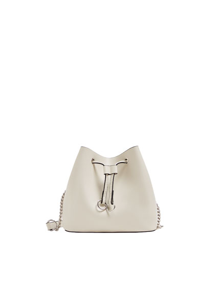 White urban bucket bag