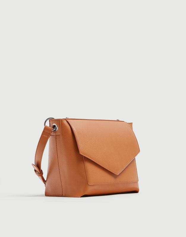 a234b445ae04 Camel crossbody bag with front flap - PULL BEAR