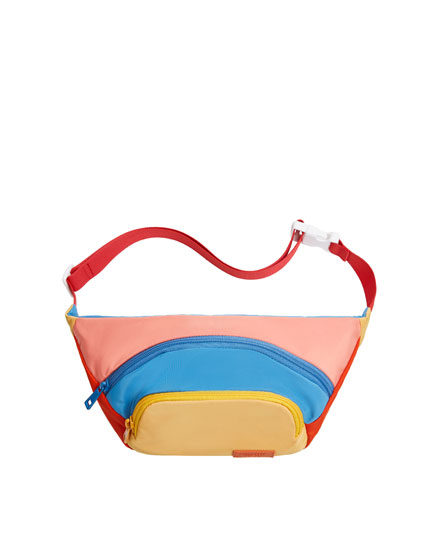 Multicoloured mustard yellow belt bag