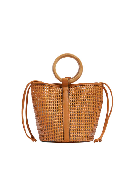 Bolso mini shopper natural