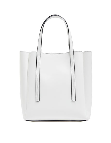 White mini tote bag