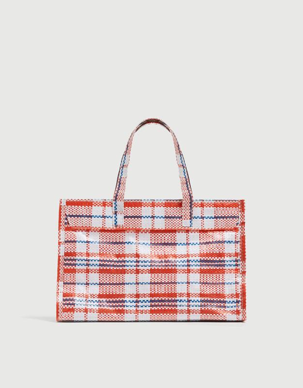 Check mini tote bag - pull bear 4ee3b72a5e3c1