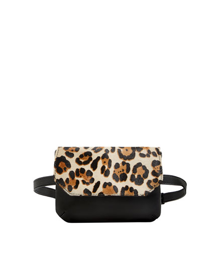 Leopard print belt bag