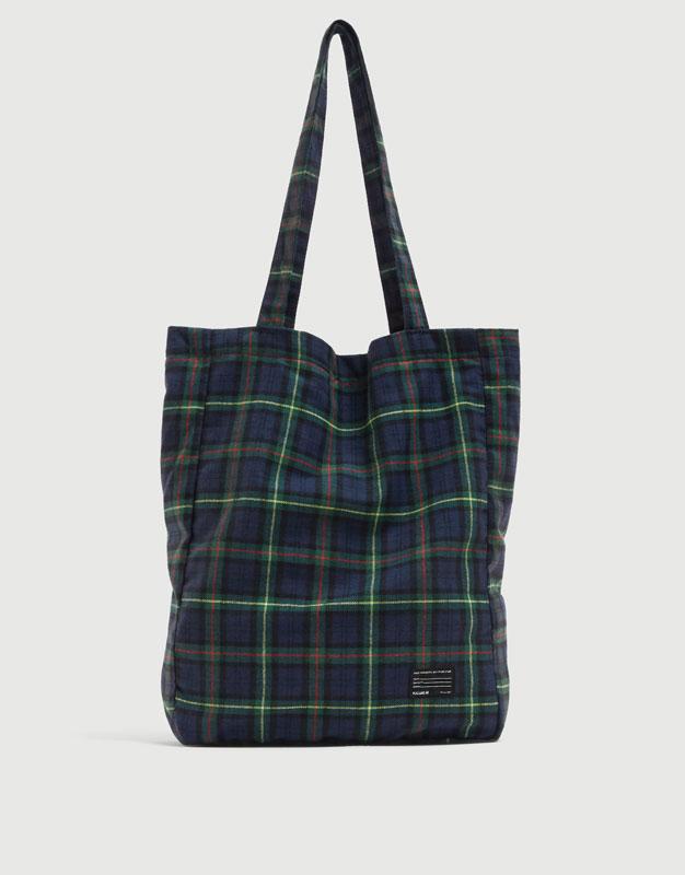 Green check tote bag - PULL BEAR bbb63b8b46e44