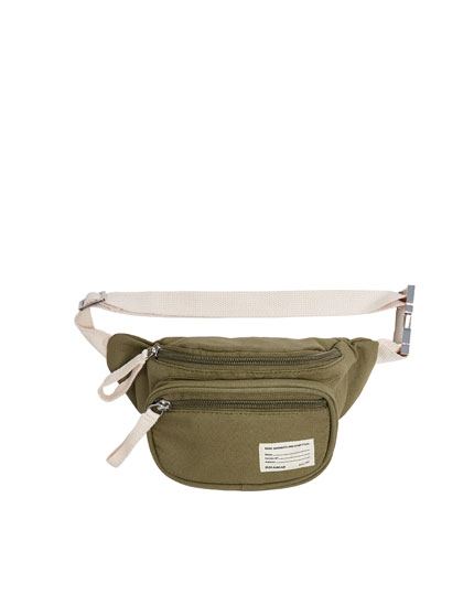 Join Life green fabric belt bag