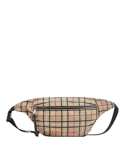 Check print belt bag