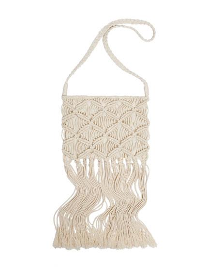 Mini crossbody bag with fringe