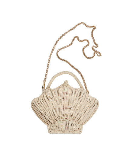 Seashell-shaped mini crossbody bag