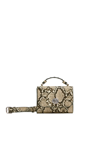 Animal print crossbody belt bag
