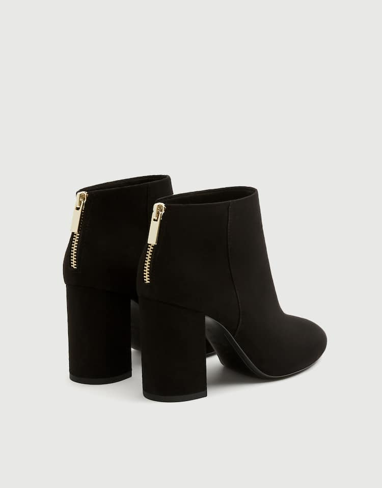 Basic mustard yellow high-heel ankle boots - PULL BEAR 85bd78dbe4dc