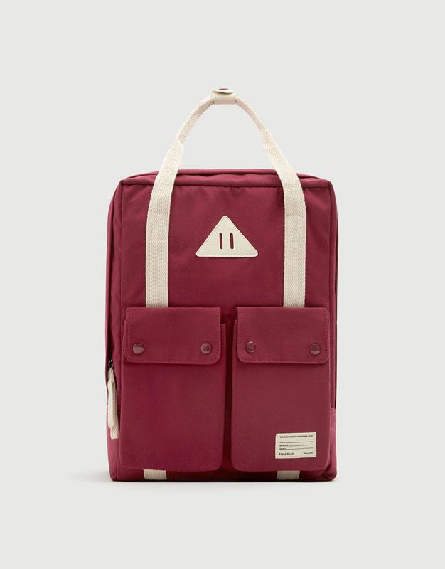 Burgundy school backpack - pull bear cc6ac214b1