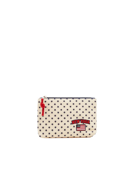 Star print toiletry bag