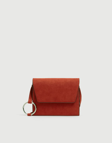 Crossbody bag with ring detail