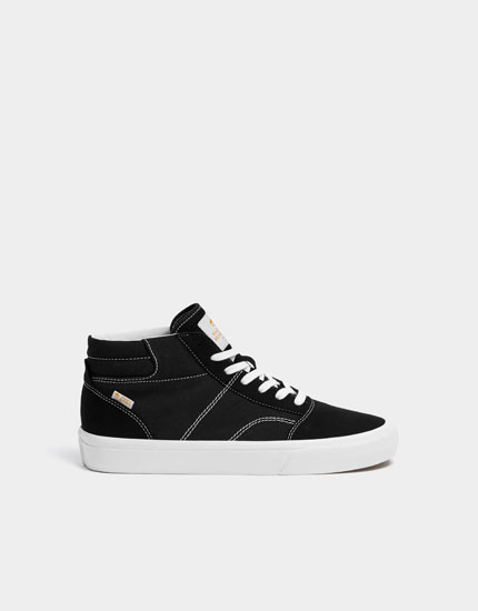 Zwarte hightop teen sneaker