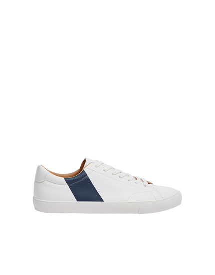 Navy stripe trainers