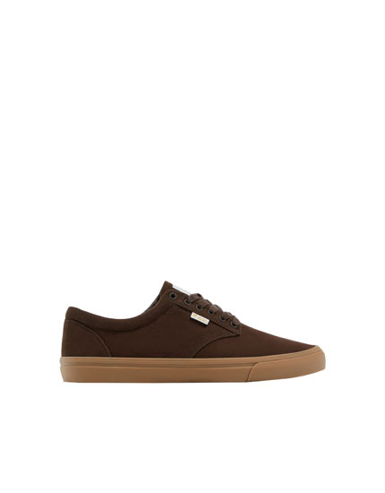 Zapatilla teen basic marrón