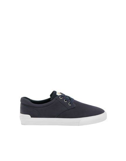 Navy blue teen trainers