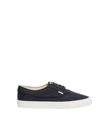 Blauwe canvas sneaker Pacific