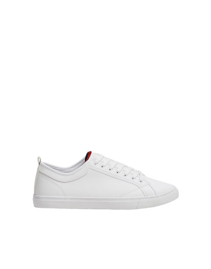 Basic white die-cut trainers