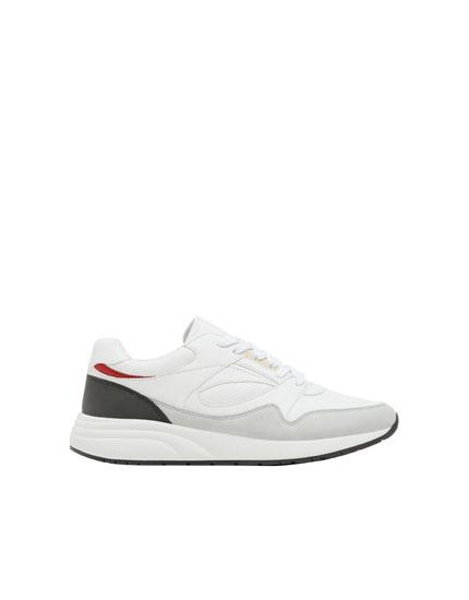 Beyaz urban spor ayakkabı