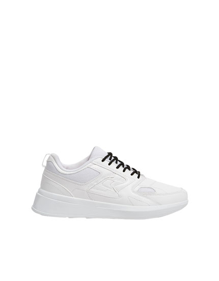 White contrasting sneakers