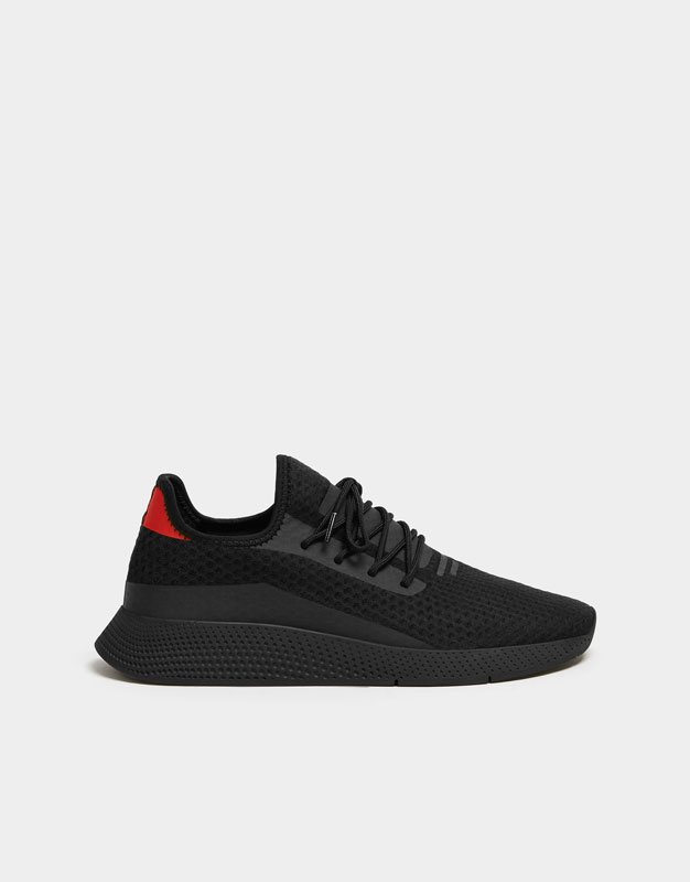 Black Mesh Trainers by Pull & Bear