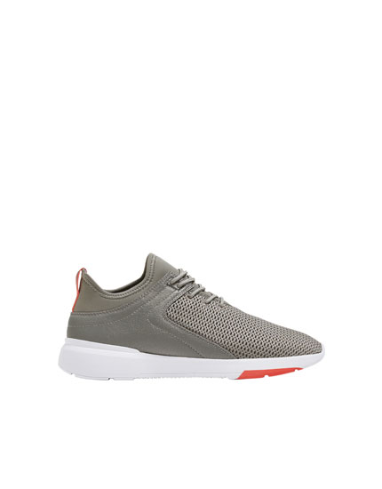 Grey contrasting trainers