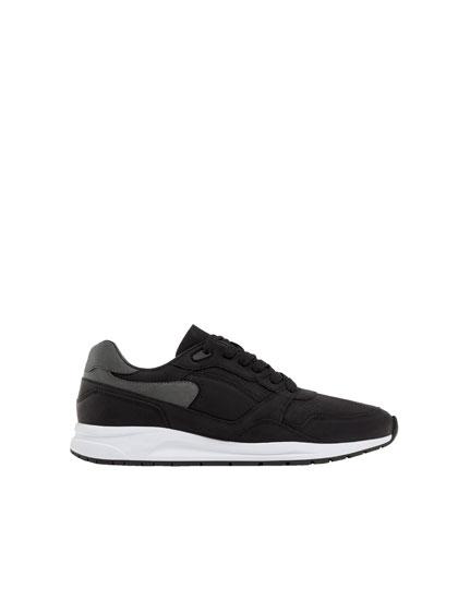 Siyah urban spor ayakkabı