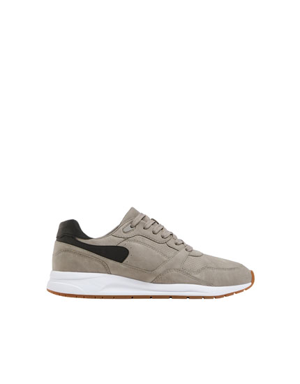 Grey urban-style trainers