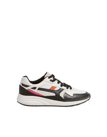 Animal print urban trainers