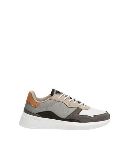 Pantofi sport stil urban combinaţi