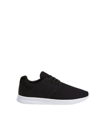 Basic black trainers