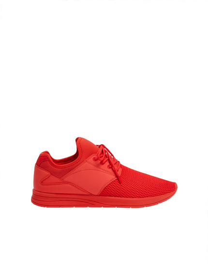 Basic red trainers