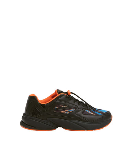 Chunky trainers with flame design