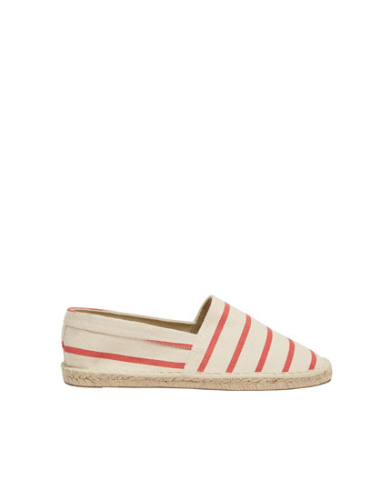 Basic striped espadrilles
