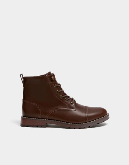 Chaussures montantes marron style workwear