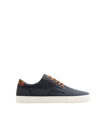 Blue urban die-cut trainers