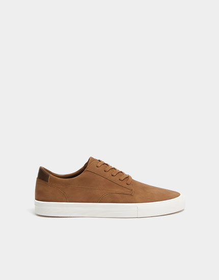 Camel urban die-cut trainers