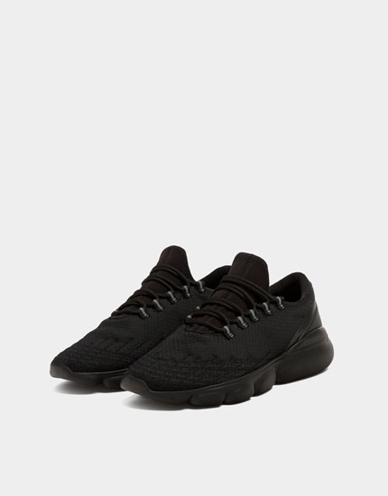 Black bubble trainers
