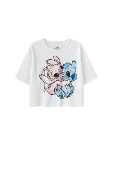 Camiseta Stitch & Angel