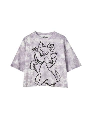 Tie-dye Marie Aristocats T-shirt